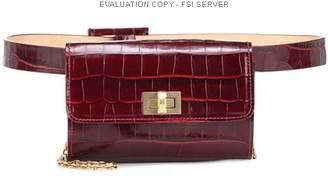 Max Mara Embossed leather belt bag