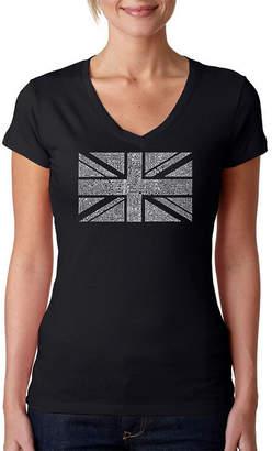 LOS ANGELES POP ART Los Angeles Pop Art Union Jack Womens Graphic T-Shirt