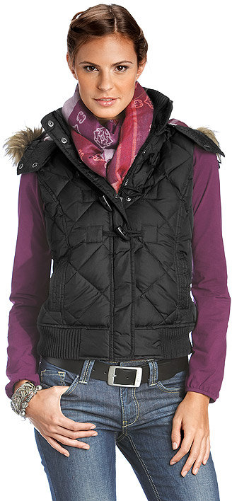 Quilted Down And Feather Gilet
