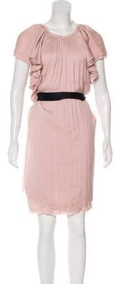 Lanvin Short Sleeve Knee-Length Dress