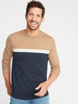 Old Navy Color-Blocked Crew-Neck Sweater for Men