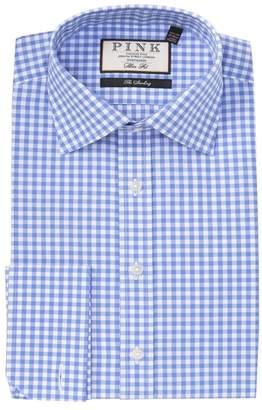 Thomas Pink Summers Gingham Print Slim Fit Dress Shirt