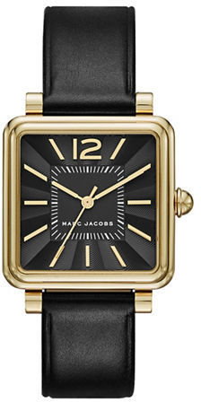 Marc Jacobs Marc Jacobs Square Case & Black Sunray Dial Watch