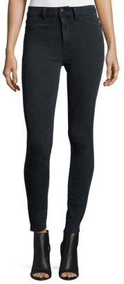 DL1961 Premium Denim No. 1 Super Skinny Ultra High-Rise Ankle Jeans, Battle $188 thestylecure.com