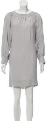 Fendi Silk Textured Mini Dress