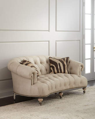 Old Hickory Tannery Xantha Tufted Leather Sofa