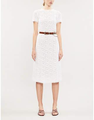 Michael Kors Swirling cotton-crotchet midi dress