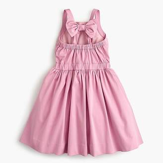 J.Crew Girls' bow-back dress in stretch faille