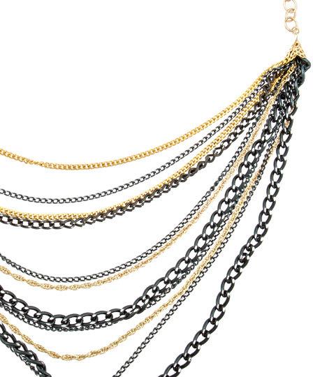 Michelle Roy Multi Black Chain Necklace