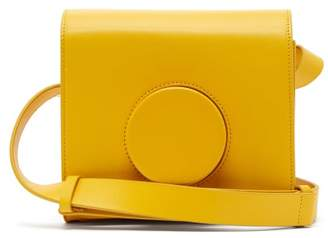 Lemaire Leather Cross Body Camera Bag - Womens - Yellow