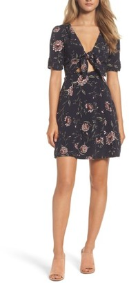 Women's Bardot Tie Front Floral Dress $99 thestylecure.com