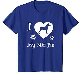 Mini A Ture Miniature Pinscher T shirts I Love My Min Pin Gifts