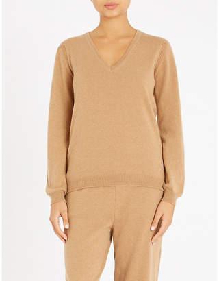 Johnstons V-neck cashmere jumper