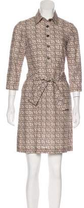 Burberry Printed Long Sleeve Shirtdress