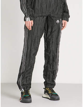 Alexander Wang Adidas X Logo-embroidered crinkled shell trousers