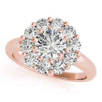 Glamorous TVS-JEWELS 14k Rose Gold Plated 925 Sterling Silver For Wedding Ring In Solitaire with Accents
