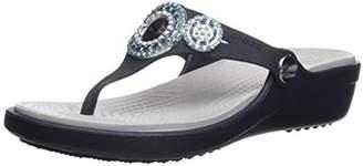 Crocs Women's Sanrah Diamante Flip W Wedge Sandal