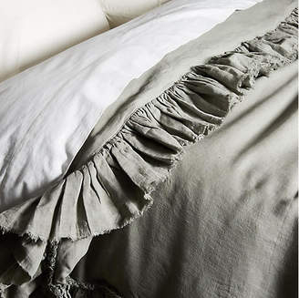 One Kings Lane Matteo for Tattered Linen Duvet Cover - Gray