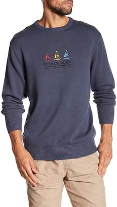 Barney Cools Yacht Club Knit Crew Neck Sweater