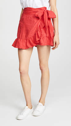 Blank Linen Wrap Skirt