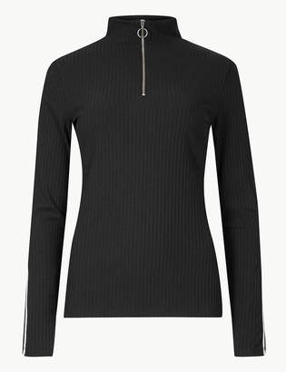 M&S CollectionMarks and Spencer Textured Turtle Neck Long Sleeve Jumper