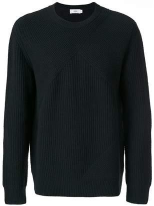 Closed ribbed knit jumper