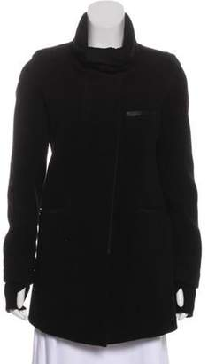 Helmut Lang Wool Double-Breasted Coat Black Wool Double-Breasted Coat