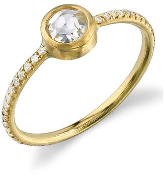 Irene Neuwirth Rose Cut Diamond Stacking Ring - Yellow Gold