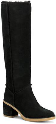 UGG Women's Kasen Round Toe Suede & Sheepskin Tall Boots