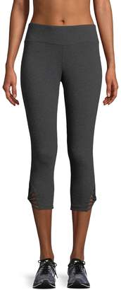 Betsey Johnson Performance Women's Strappy Cropped Performance Leggings