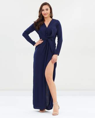 Missguided Wrap Front Shirt Maxi Dress