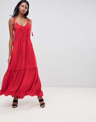 Whistles Tassle Tie Maxi Dress