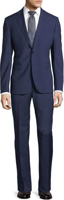 Neiman Marcus Solid Wool Two-Piece Suit, Navy