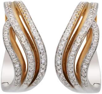 Chimento 18k Two-Tone Gold & Diamond Hoop Earrings