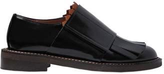 Marni 30mm Fringed Brushed Leather Shoes