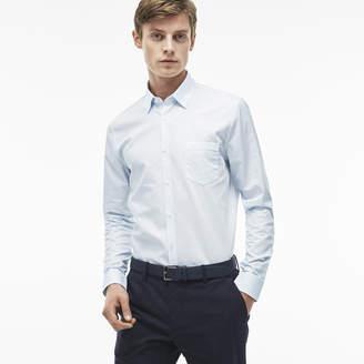 Lacoste (ラコステ) - ストライプチェック レギュラーフィットシャツ (長袖)