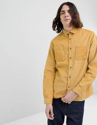 Asos DESIGN Overshirt In Cord In Yellow