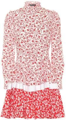 Alexander McQueen Floral-printed cotton minidress