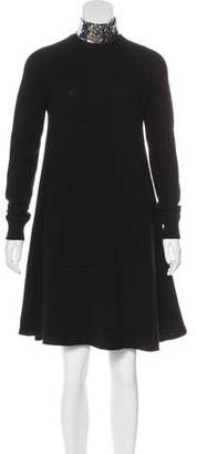 Christian Dior Sequined Embellished Cashmere Sweater Dress