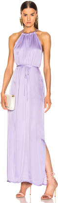 Raquel Allegra Halter Dress in Lilac | FWRD