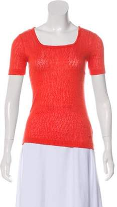 Tory Burch Short Sleeve Knit Top