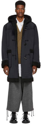 Yang Li Navy Oversized Duffle Coat