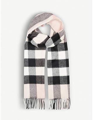 Burberry Half Mega Check cashmere scarf