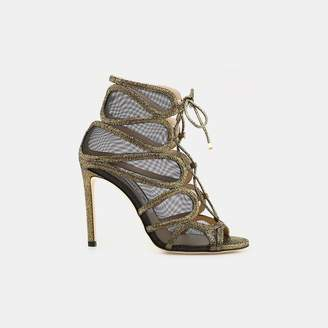 Jimmy Choo Malena 100 Open Toe Bootie