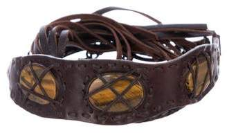 Henry Beguelin Leather Chain-Link Belt