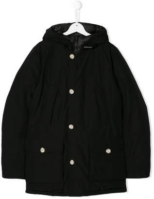 Woolrich Kids hooded button coat