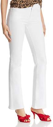 J Brand Sallie Mid Rise Bootcut Jeans in Blanc