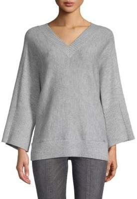 Donna Karan Oversize V-Neck Sweater