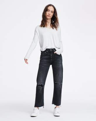 Rag & Bone Clara torqued v-neck long sleeve