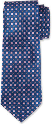 Neiman Marcus Men's Boxed High Float Pattern Silk Tie